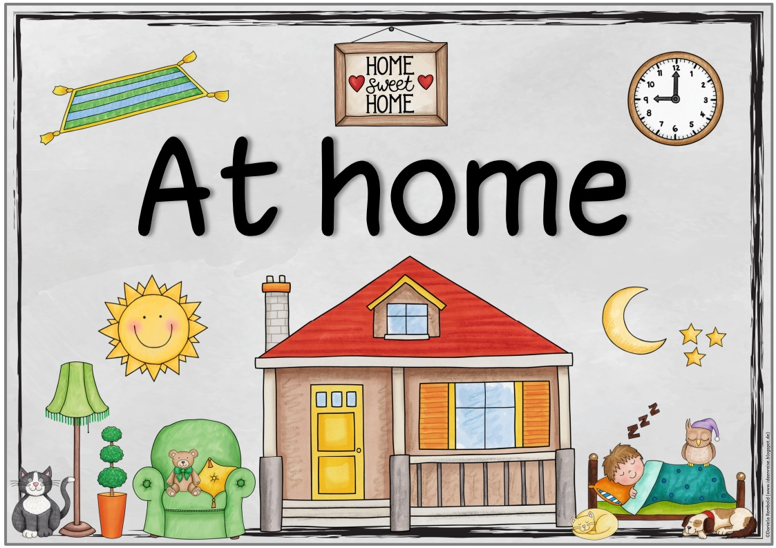 At Home Plakat Und Ergnzende Flashcards