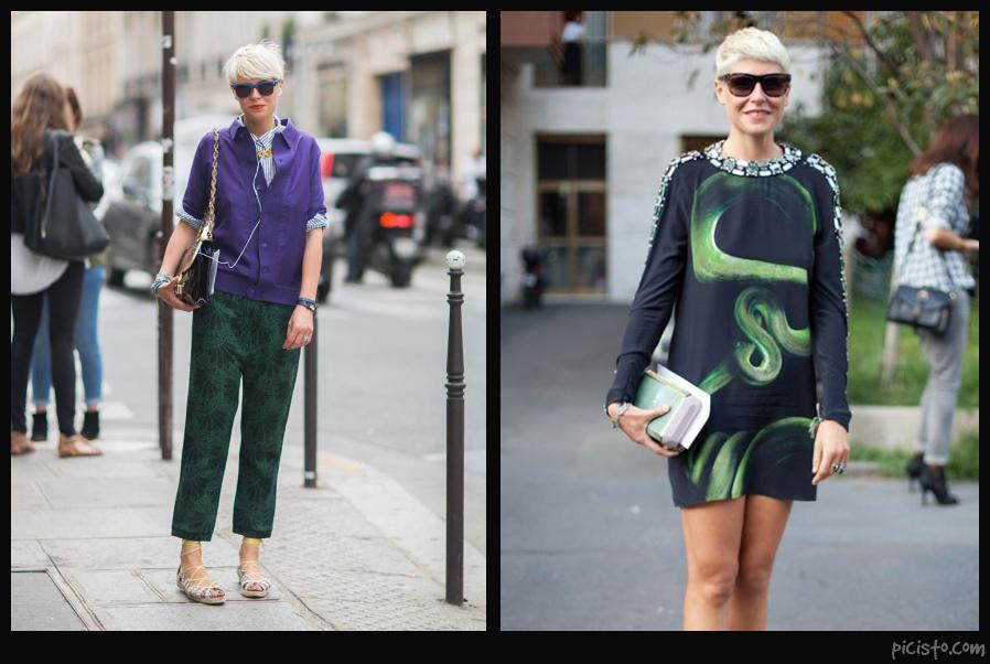 Elisa Nalin Wearing Green