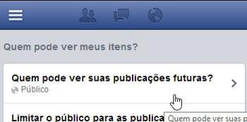 Controle quem pode ver as suas Postagens do Facebook
