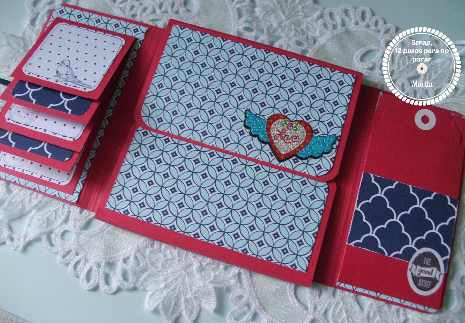 Scrap arts tutorial 1 descripci n mini lbum memory fold - Decoracion de album de fotos ...