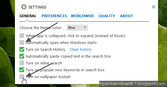 cara menghilangkan bing desktop di windows 8.1