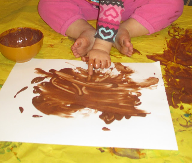 Easy homemade finger paint that is edible and safe for babies
