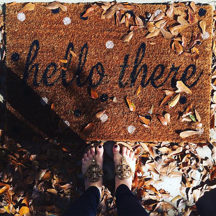 hello there door mat