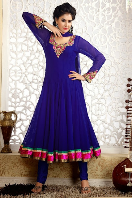 New and latest Anarkali Churidar Salwar Kameez Dresses for Girls