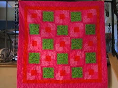 Lady Bug Orange & Pink Quilted Baby Blanket