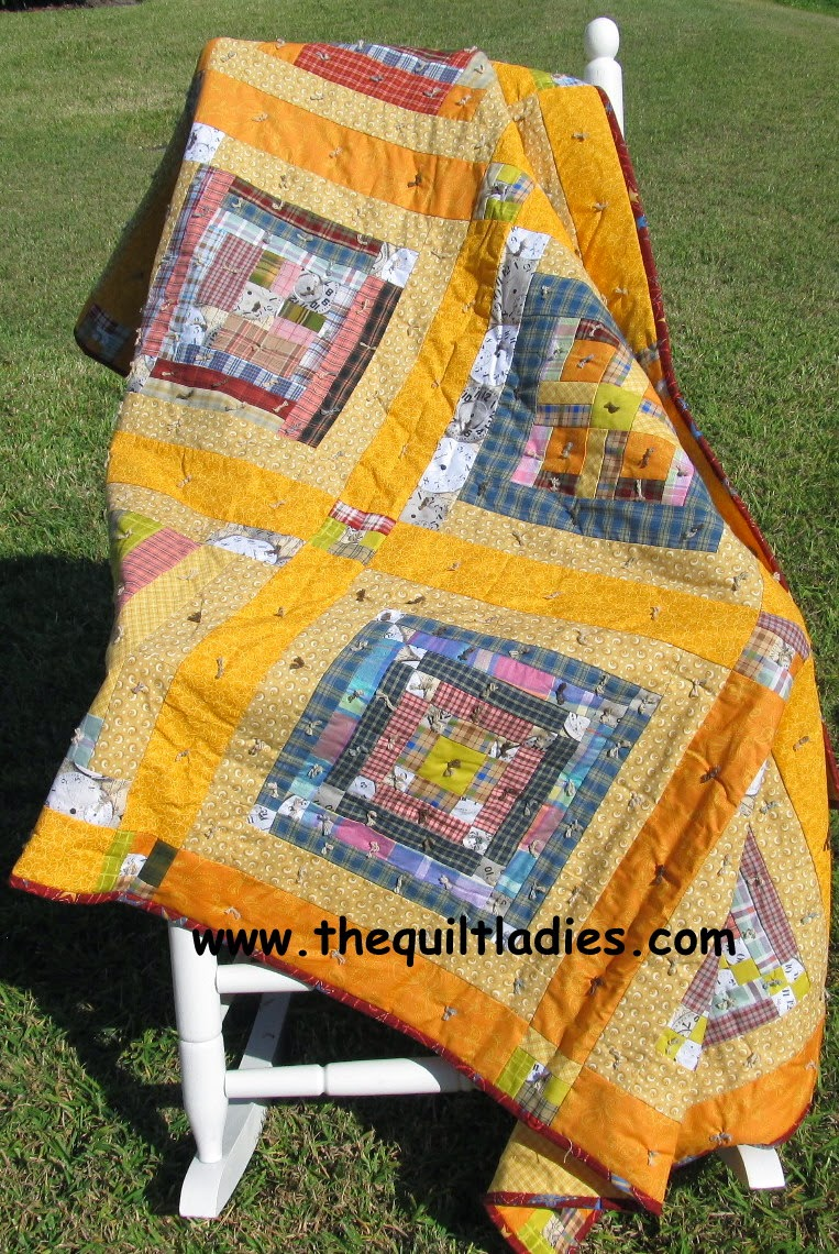 log cabin quilts from www.thequiltladies.com