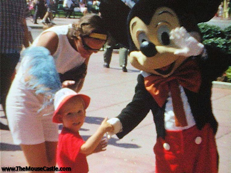 Mom, Me and Mickey Mouse at Disneyland, 1965