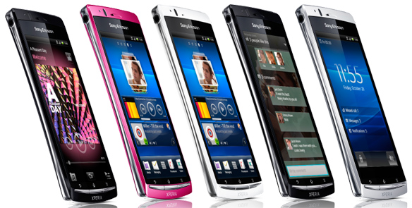 Pure White, Midnight Blue, Misty Silver, Gloss Black, Sakura Pink, Sony Ericsson Xperia Arc S, 1.4Ghz, Sony 3D