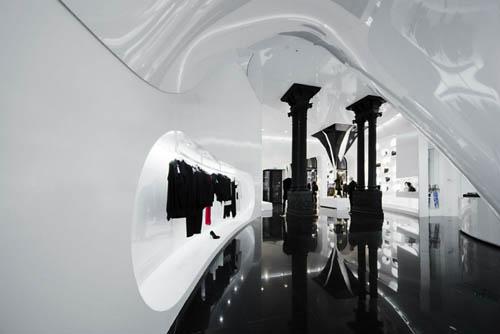 Capsula the Elegant Fashion Store Design Unique ceiling