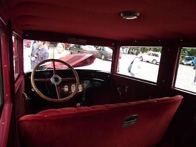 painel e banco de um Chevrolet 1929