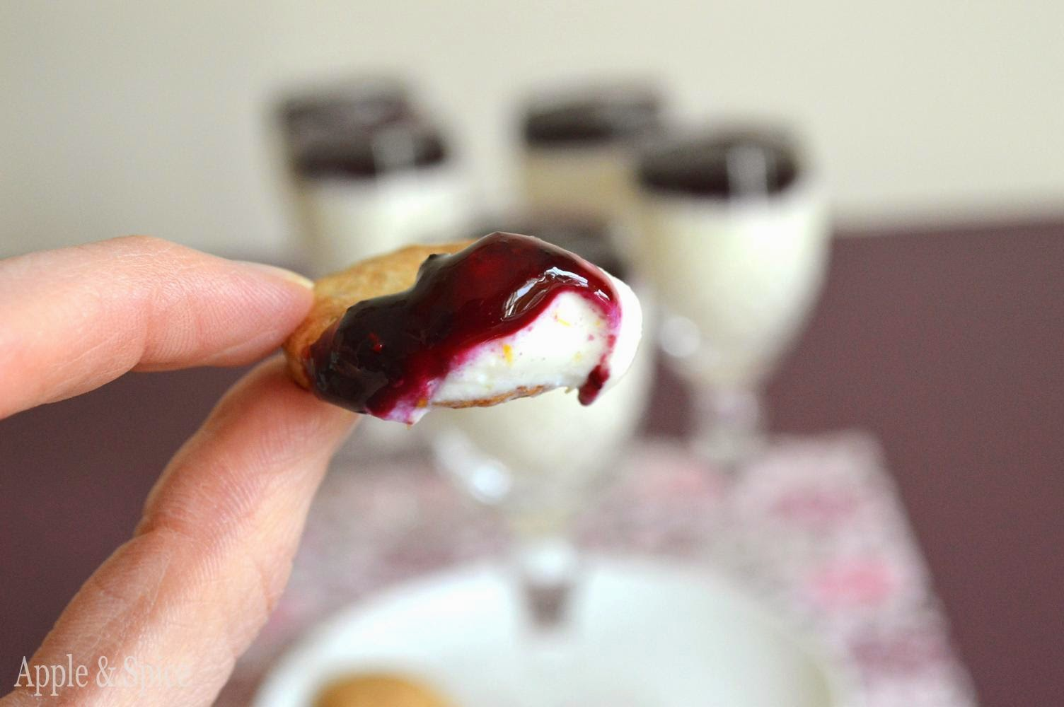 Apple & Spice: No Bake Lemon & Blueberry Ricotta ...