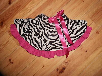 Zebra Skirt, Pink