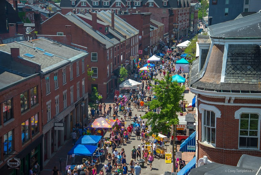 Portland, Maine June 14, 2015 annual Old Port Festival above Fore Street photo by Corey Templeton.
