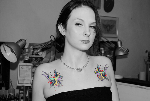 Girl Word Tattoos on Chest Girls Tattoos of Chest Are