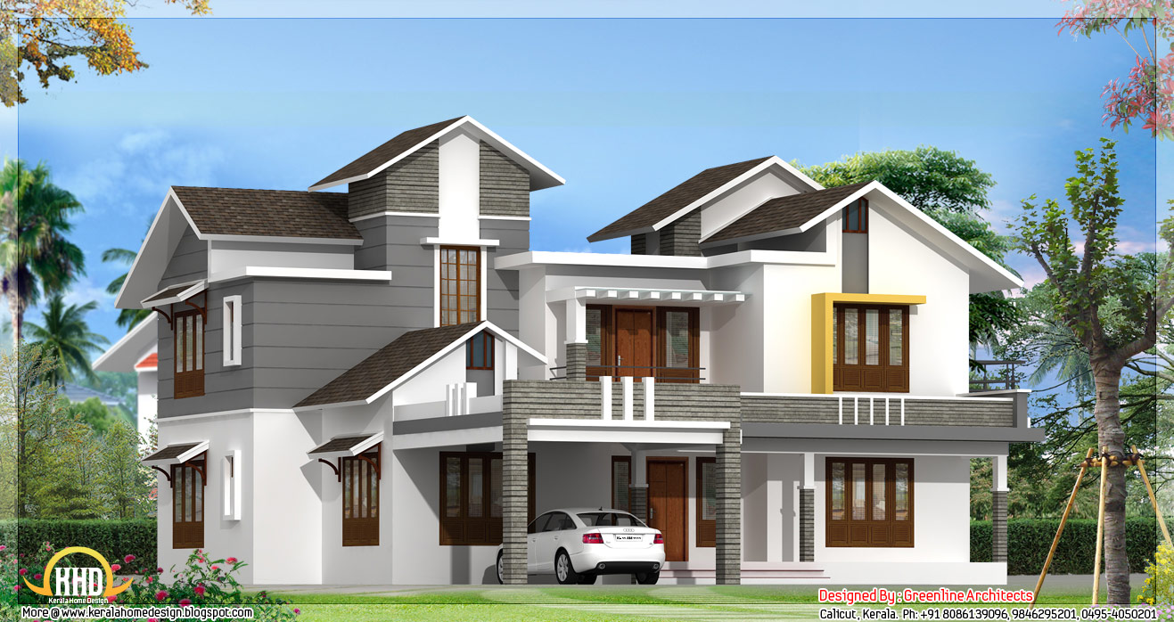 May 2012 kerala home design and floor plans for Contemporary model homes