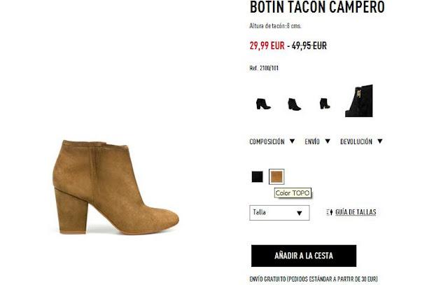 Botín camel Zara primavera/verano 12