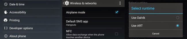 Nexus 4 Phone Settings Android 4.4 Kitkat