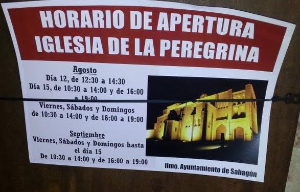 Horarios de apertura de la peregrina de sahag n para for Horario apertura oficinas la caixa