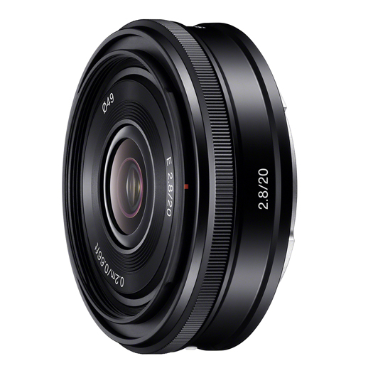 sony nex 20mm pancake e-mount lens