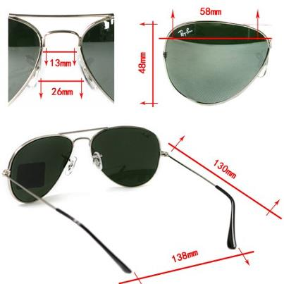how to tell if sunglasses are real ray bans  measurement of ray ban aviator