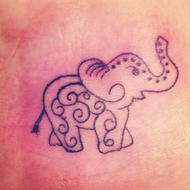 Artistic Elephant Tattoo