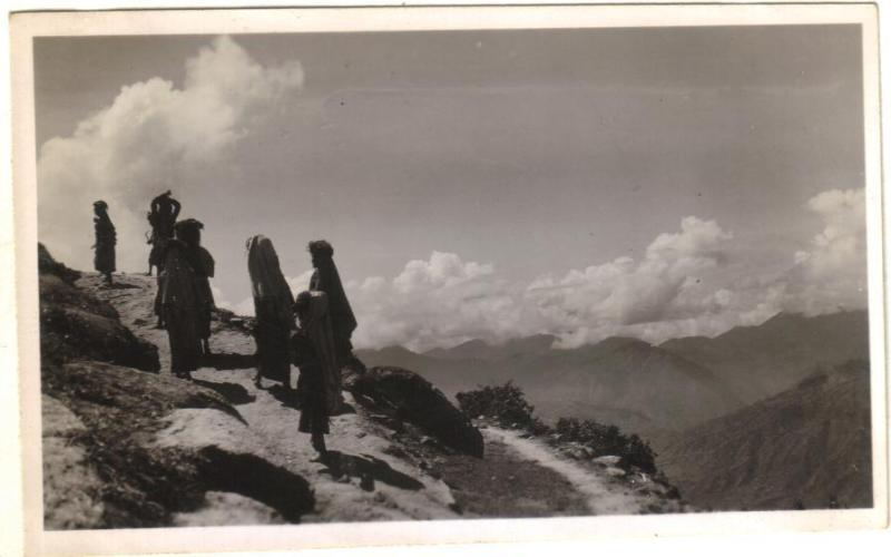 Women Going through a Hill Path - Ranikhet India 1946