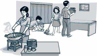 Gambar Kartun Tata Tertib Di Rumah Bank Tema Tema 3 Subtema Tugasku Sehari Hari Di Rumah