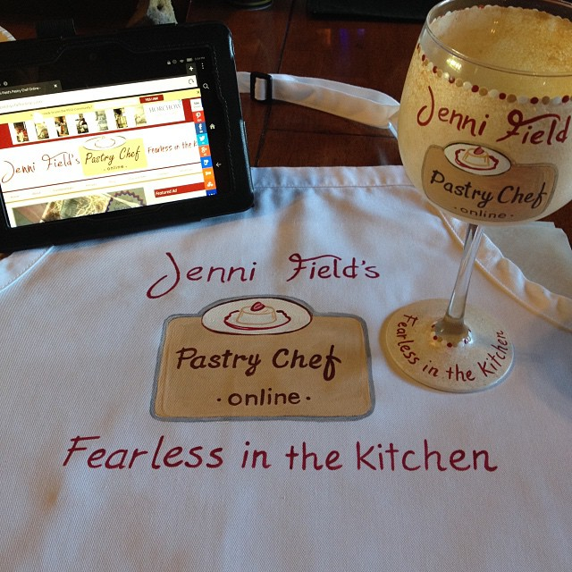 Food Blogger Apron and Wine Glass