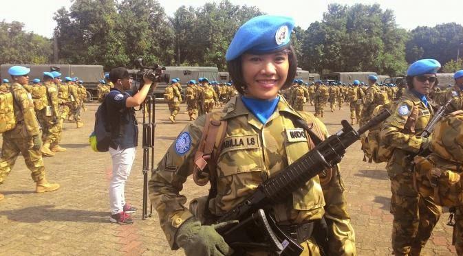 Prajurit TNI Cantik Rela Diputus sang Kekasih Demi Tugas ke Lebanon