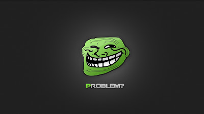 Smiling Green Trollface Problem HD Desktop Wallpaper