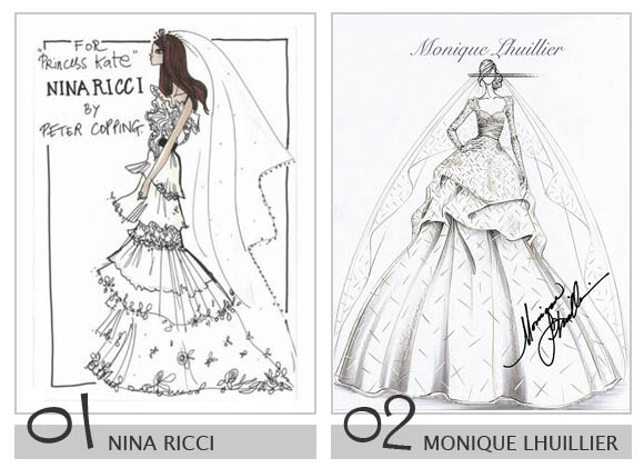 wedding dress designs sketches. Some Wedding Dresses fit for a