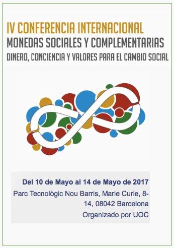IV CONFERENCIA INTERNACIONAL DE MONEDAS SOCIALES Y COMPLEMENTARIAS