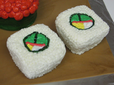 Sushi Cupcakes - Close-Up of Sushi 3
