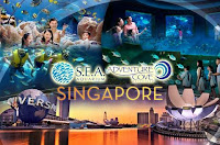 PROMOTION: S.E.A. AQUARIUM+ ADVENTURE COVE WATERPARK+TRANSPORTATION