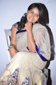 Actress Tanusha Photos in Saree at Present Love Audio-thumbnail-18
