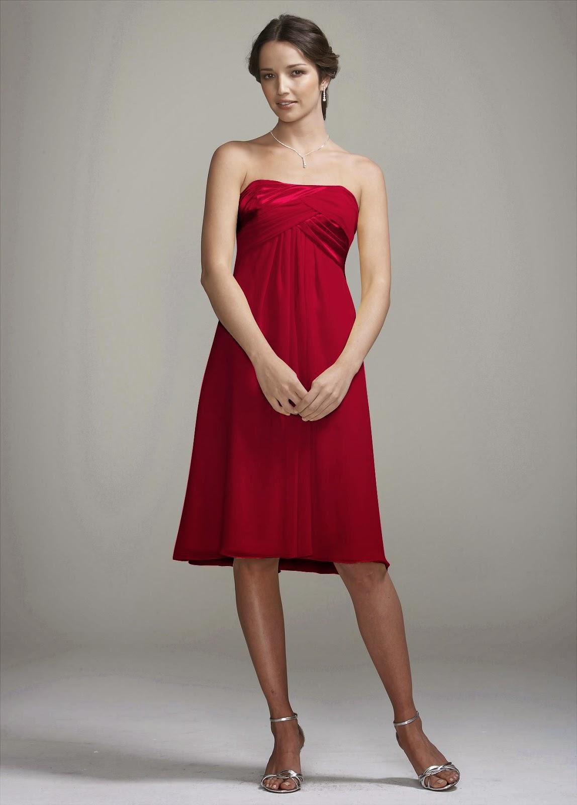 Vestidos de Gasa, Cortos, Rojos