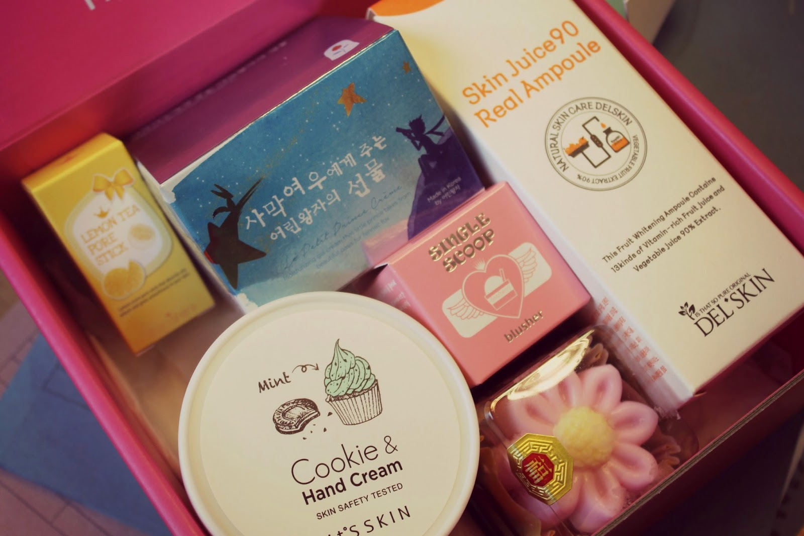 cute korean cosmetic box based on desserts