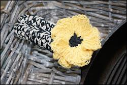 Primitive Sunflower Skillet Handle