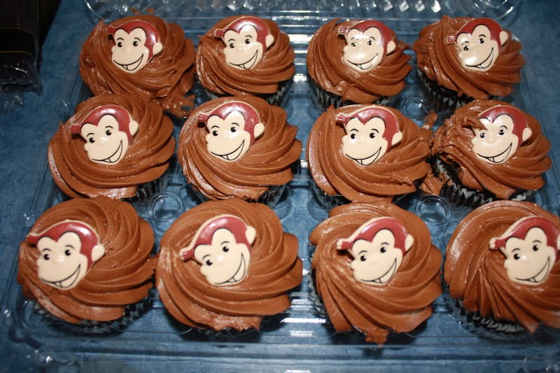 Curious George Cupcake Rings