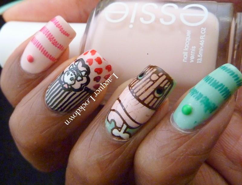 Lacquer Lockdown - Sugar Bubbles, SB009, SB011, SB013, stamping, nail art, cupcakes, skulls, emo nails, emo nail art, Essie Spring 2014, Essie Romper Room, Essie Fashion Playground, Sally Hansen Instadri Jade Jump, Sally Hansen Instadri Fast Fuschia, diy nails, cute nails, cute nail art ideas, easy nail art ideas, goth nails, cute nails , spring nail art, essie, skulls, skull nail art, hearts, heart nail art
