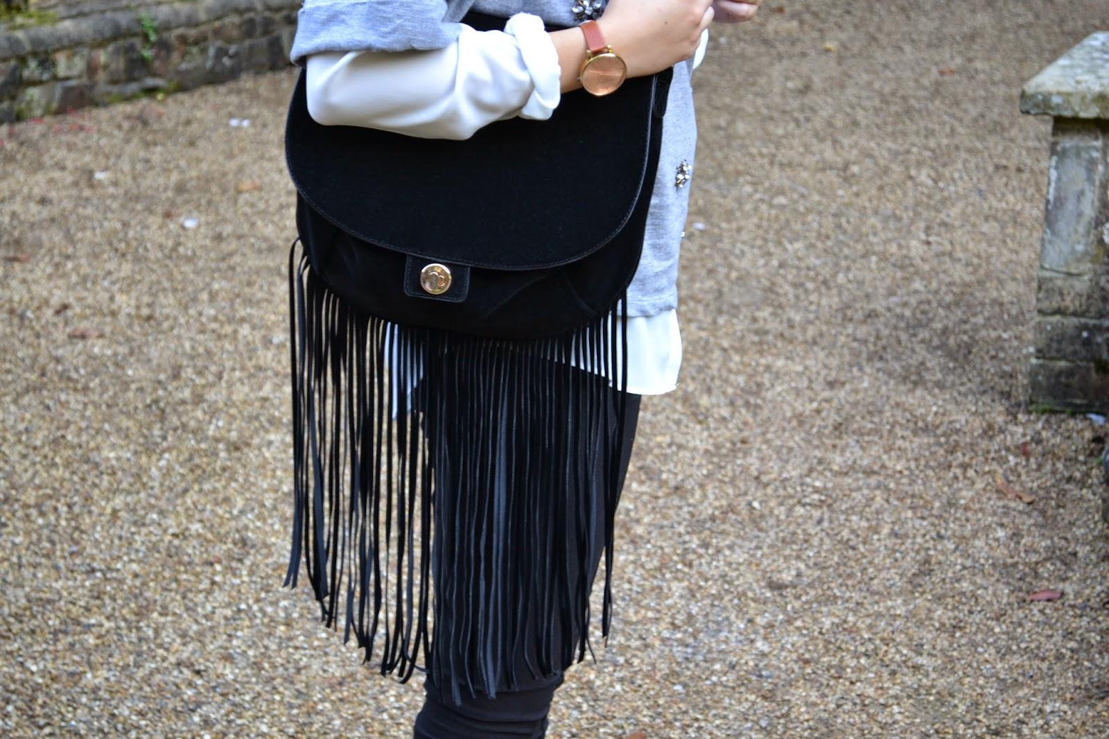 H&m Jumper Fringe Bag