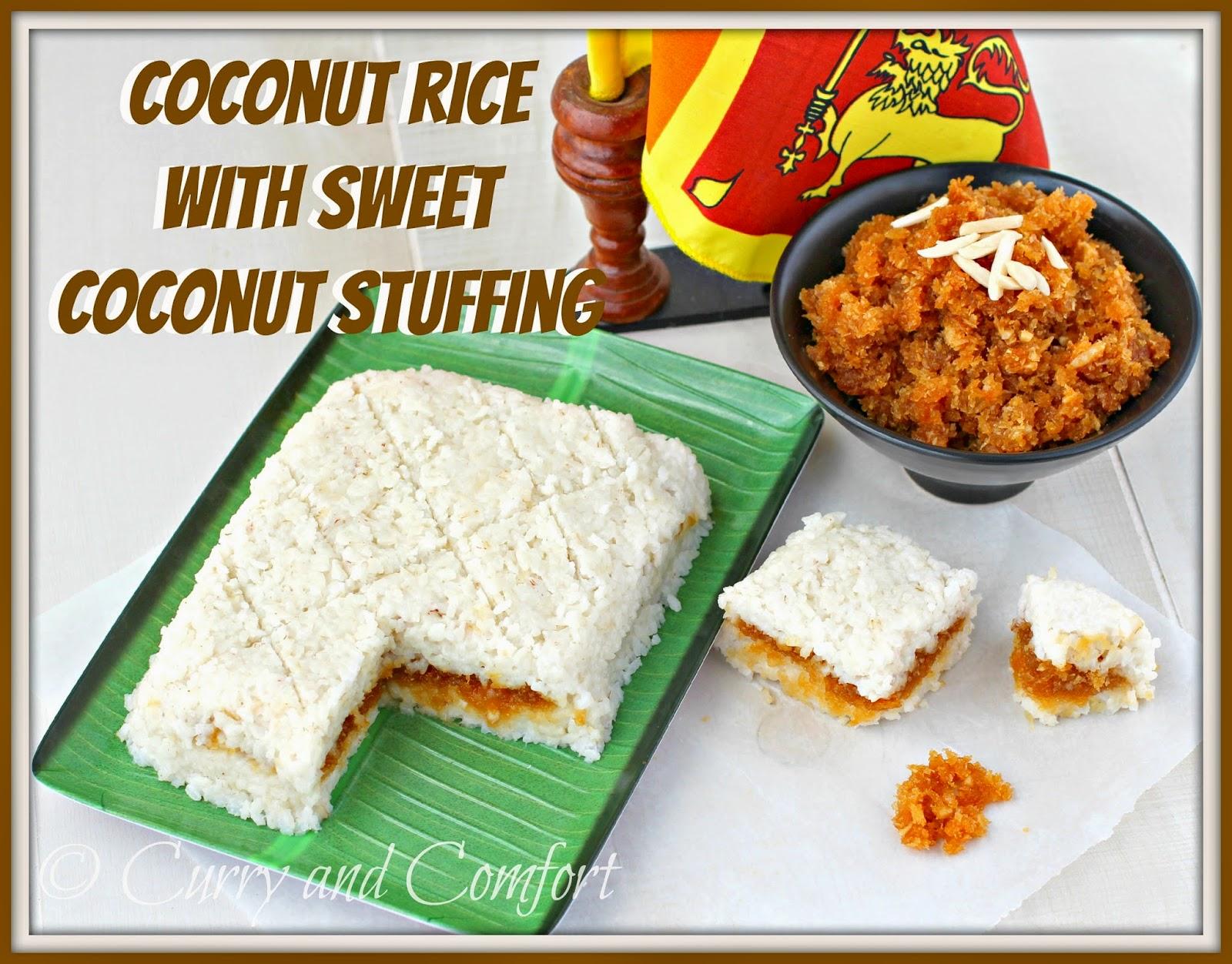 Sri Lankan Coconut Milk Rice With Sweet Coconut Stuffing (imbul Kiri Bath)