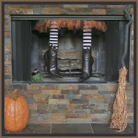 Halloween Decorations, Witch, Halloween Fireplace