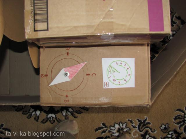 кораблик из картонных коробок