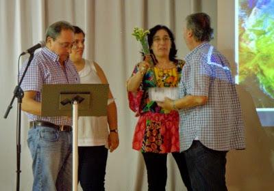 Carles Ferran recollint el guardó com del Premi Extraordinari