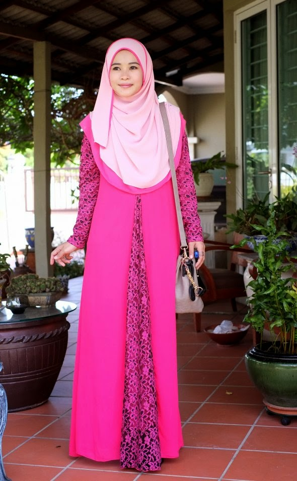Dress Chiffon Lace Pink