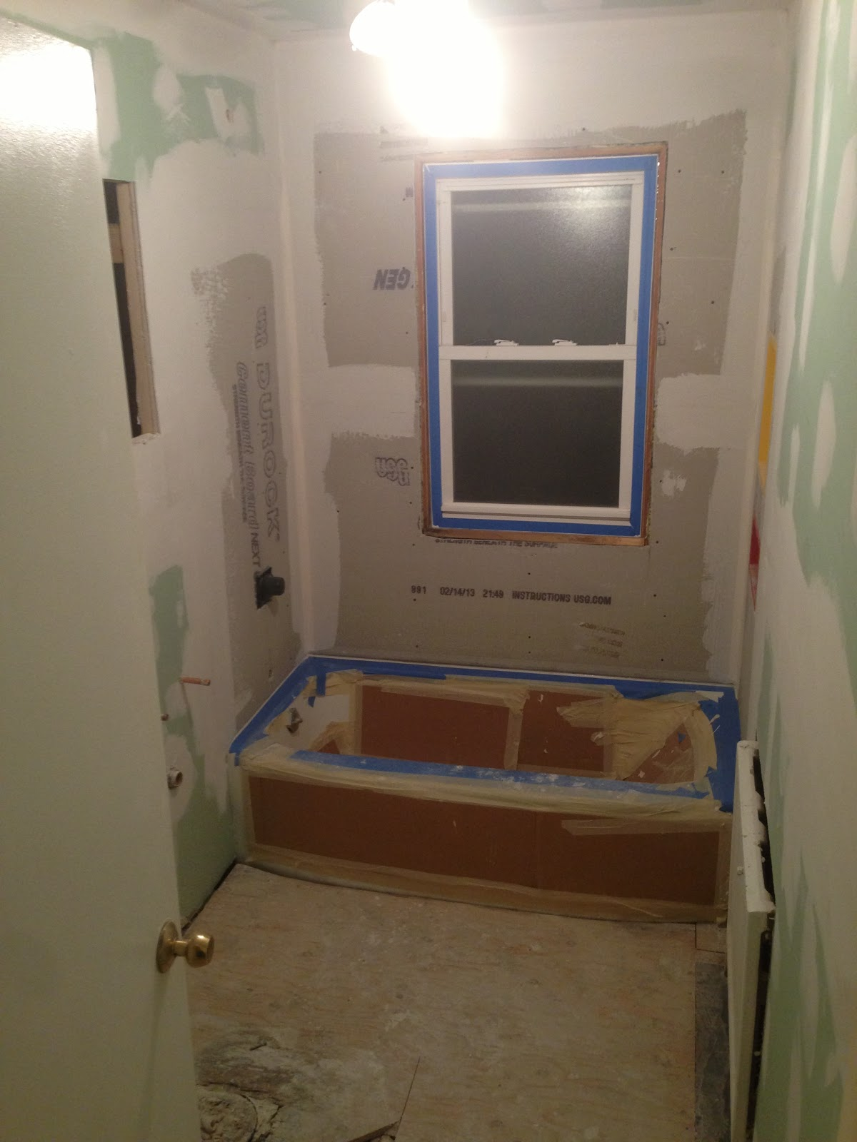 Upstairs Bath 4 Drywall Durock Centerfield Chronicles