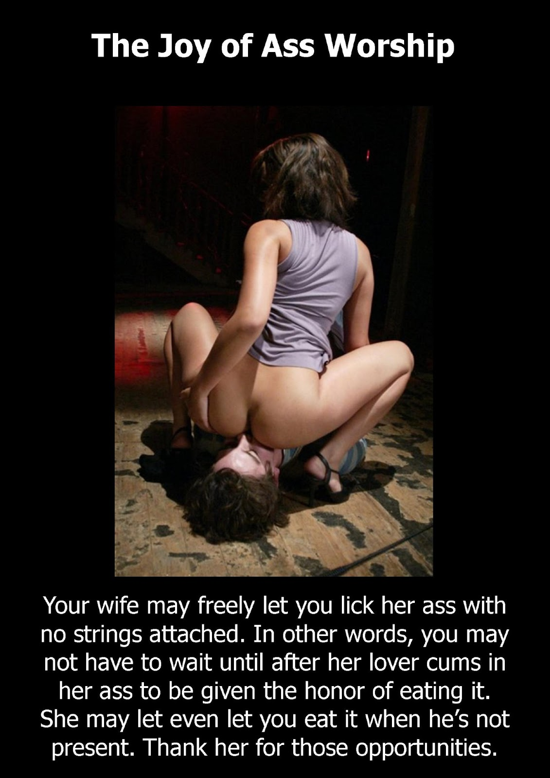 Belly pussy worship femdom caption guys are