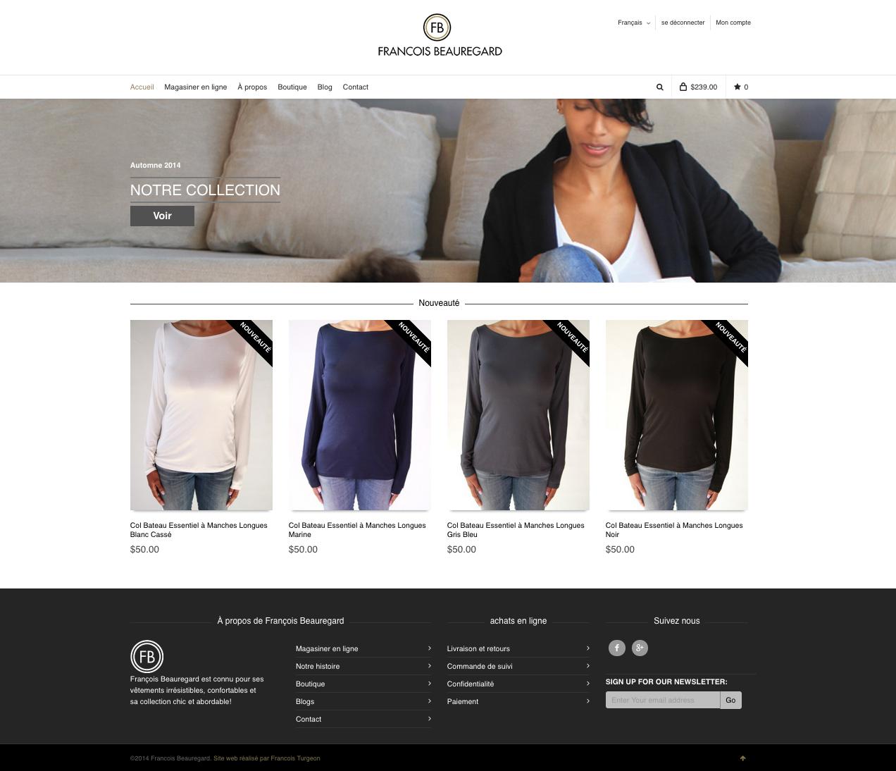 Boutique Design En Ligne francois turgeon: website design
