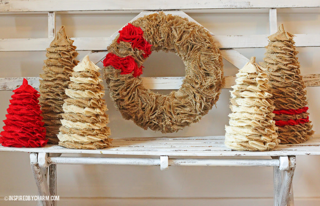 inspired by charm - Burlap Christmas